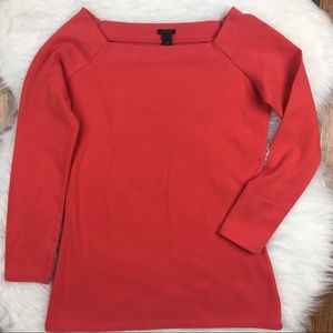 J. Crew. NWT Red 3/4 sleeve top